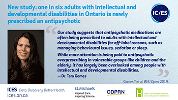 One in six adults with IDD in Ontario is newly prescribed and antipsychotic