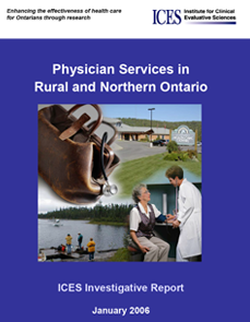 Physician services in rural and northern Ontario