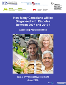 How many Canadians will be diagnosed with diabetes between 2007 and 2017? Assessing population risk