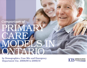 Comparison of Primary Care Models in Ontario