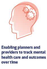 Enabling planners and providers to track mental health care and outcomes over time
